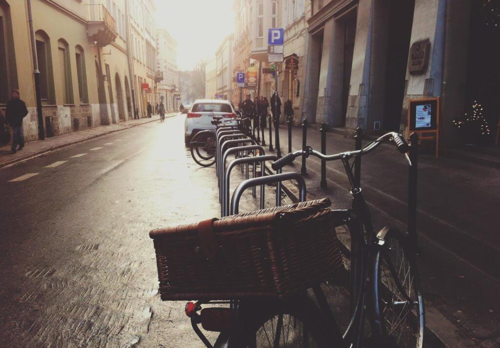 Auslieferung mit dem Fahrrad