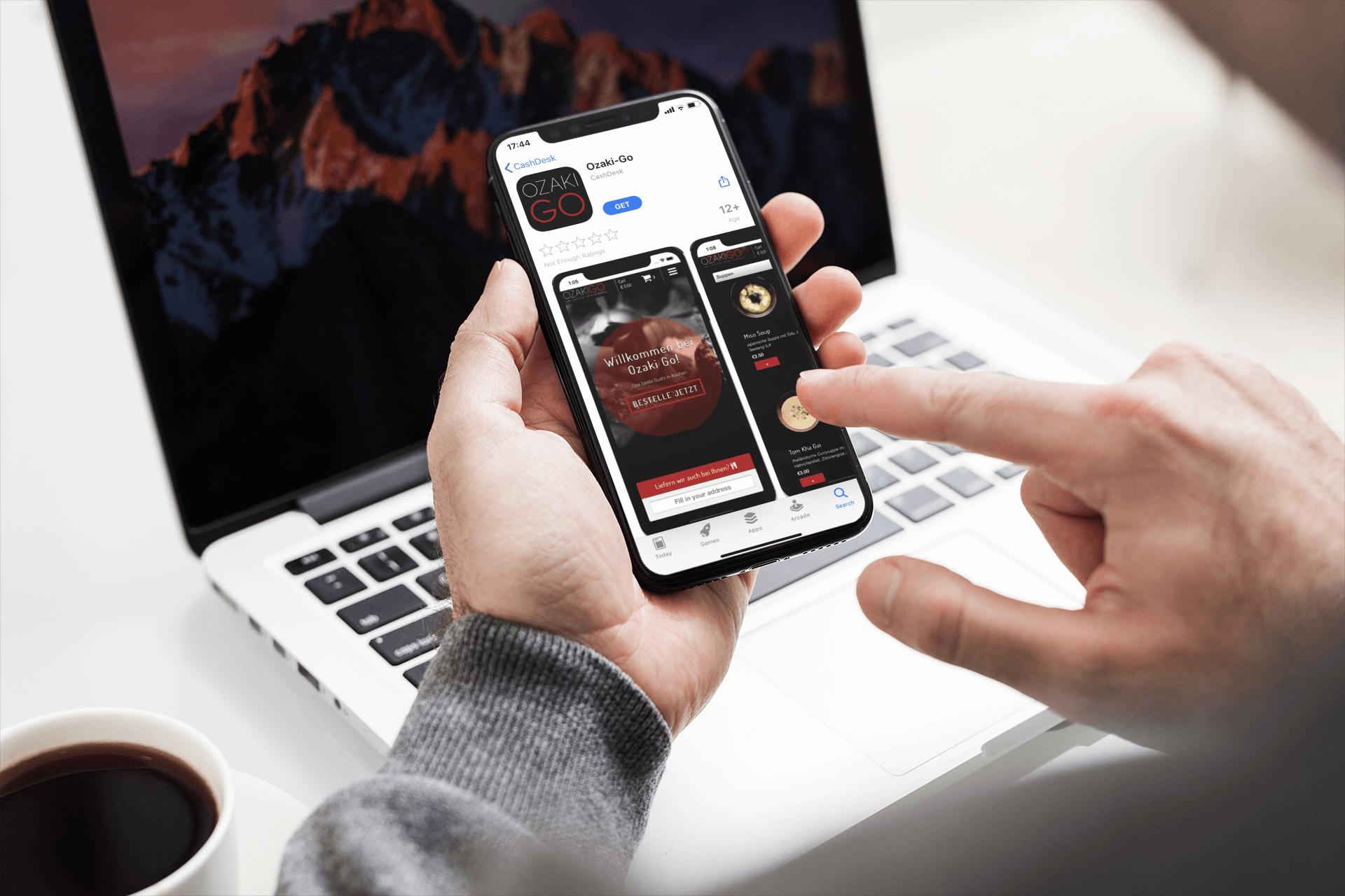 Bestellen über eine benutzerfreundliche App